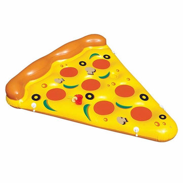 Summer Water Toy Opblaasbare Pizza Floterende Bed Zwembad Water Lounge Seat Air Matras Raft