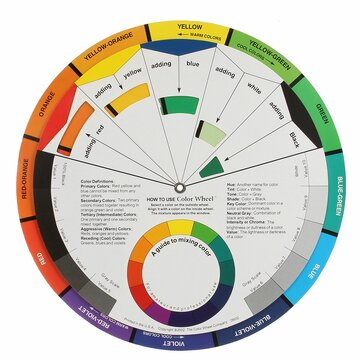 Artists Colour Wheel Mixing Colour Guide 105mm Pocket Artist Colour Wheel