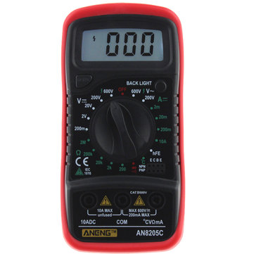 ANENG AN8205C Digital Multimeter AC/DC Voltage Meter DC Ammeter Resistance Temperature Tester -20℃~1300 ℃