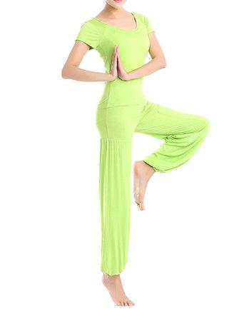 Women Fitness Yoga Sport Athleisure Three-piece Suit Lantern Pants