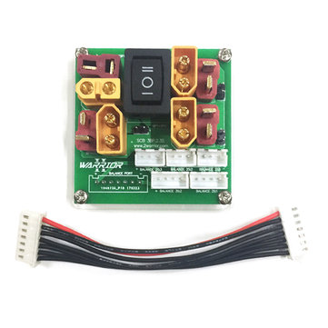 2WARRIOR Charging Board Supports 2-3 Packs of 2S 3S Lipo Battery