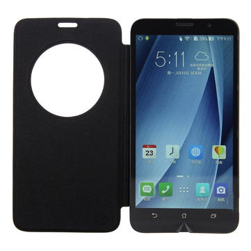 Flip Smart Window PU Leather Case Cover For Asus Zenfone2 5.5