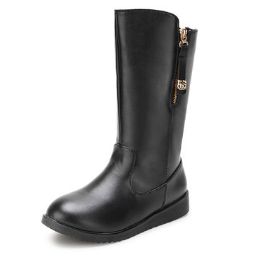 Women Winter Warm Boots Mid Calf Boots Fashion Flat Boots