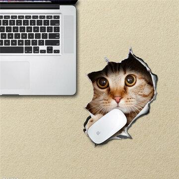Gato mouse pad etiqueta do rato adesivos de esteira pag mesa à prova d'água adesivos dom casa decoração gato removível