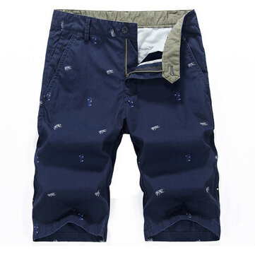 Mens Cotton Loose Big Size Cargo Shorts Summer Casual Knee Length Solid Color Beach Shorts