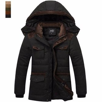 Mens British Fashion Casual Winter Outdoor Thick Warm Cotton ...