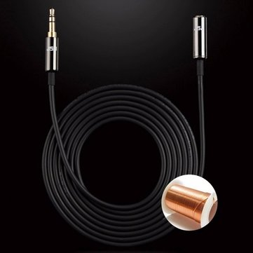 JSJ 3.5mm 0.5m 1.65ft Male to Female Stereo Audio Cable