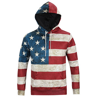 USA Flag 3D Print Hoodies Autumn Winter Fashion Casual Unisex Hooded Sweatshirts