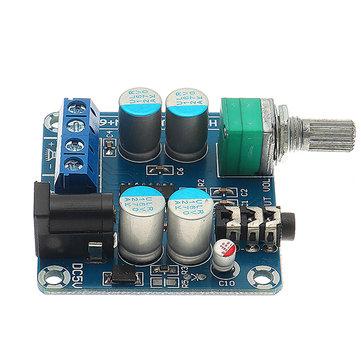 DC 5V Düşük Güç Dijital Güç Amplifikatör Kurulu 6W + 6W Masaüstü Gücü Amplifikatör