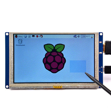 5 inch Plug-and-play 800 x 480 HD Displaymodule met USB-aanraakscherm