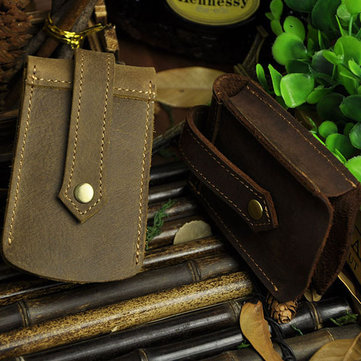 Large Capacity Men Genuine Leather Key Holder Car Key Waist Bag