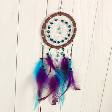 Dream Catcher Feather Leather Dreamcatcher Hanging Decoration Ornament Gift Long 43cm