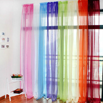 Translucent Sheer Tulle Voile Organdy Curtain Drape