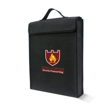 38x30.5x6.5cm Double-layer Fireproof Explosion Proof LiPo Battery Portable Safety Protective Bag