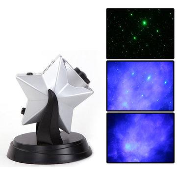 LED Laser Star Projector Light Show Green Blue Night Effect Nebula Hologram  Cloud Kids Bedroom Lamp. LED Laser Star Projector Light Show Green Blue Night Effect Nebula