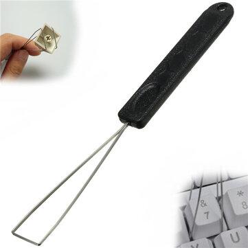 Tasto della tastiera keycap estrattore rimozione tappo chiave con strumento di pulizia in acciaio scarico