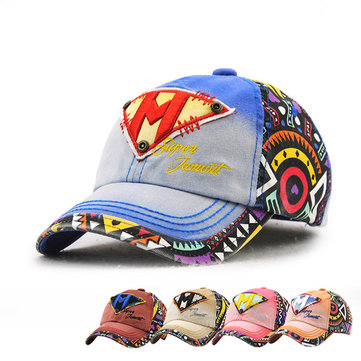 Kids Boys Girls Cotton Letter Embroidery Baseball Hat Cute Outdoor Sports Sunscreen Cap