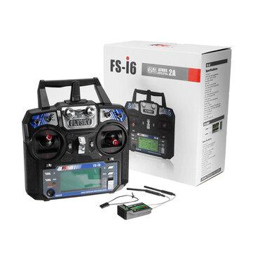 FlySky FS-i6 2.4G 6CH AFHDS Transmisor RC con FS-iA6B Receptor
