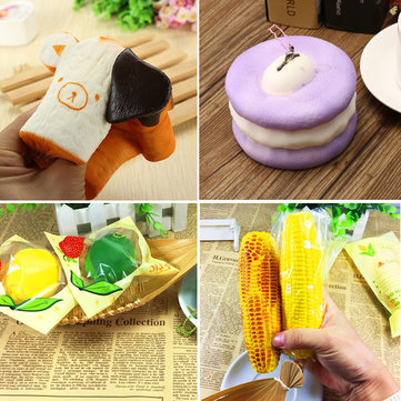 Bread Macaroon Squishy Eric Squishy Lemon Corn Slow Rising Collection Toy Soft Squeeze Gift