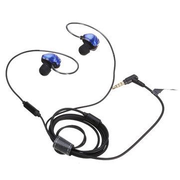 UiiSii CM5二重軸グラフェンワイヤードイヤホンヘッドホンと音量調節マイク