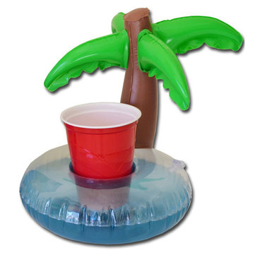 IPRee™ Inflatable Mini Cute Plamtrees Drink Can Holder Floating Swimming Pool Bath Beach Water Toys