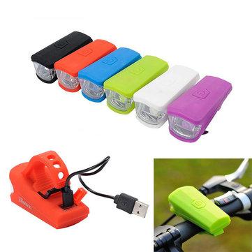 Велосипед велосипед USB легких фронта индикатор огня перезаряжаемые силикагель безопасности для езды на велосипеде кататься на свете