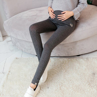 Pregnant Woman Pure Color Thicken Slim Leggings