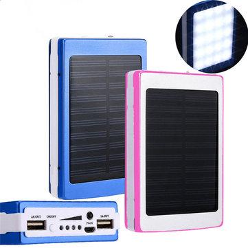 DIY 20000mAh Solar Energy Power Bank Case Box for Samsung S8 Xiaomi 6 iPhone 8