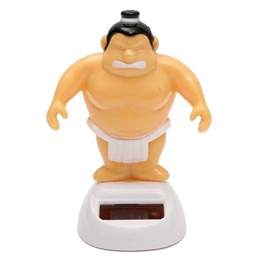 Solar Power Sumo Wrestler Bobble Figure Dancer Toy Wiggling Table Desk