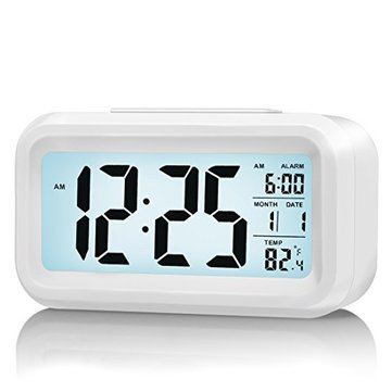 LED Digital LCD Alarm Clock Time