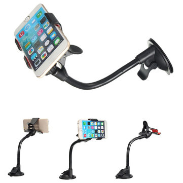 Universal 360 Rotating Windshield GPS Car Phone Holder Stand Bracket For iPhone 6S 5 inch Smartphone