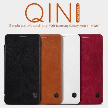 NILLKIN Qin Flip Genuine Leather Wallet Card Cover Case for Samsung Galaxy Note5(N920)