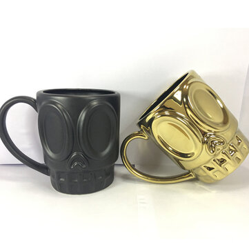 KCASA KC-FACE01 Creative Grimace Milk Beer Coffee Tea Ceramic Couple Mug Cup Glass Tumbler