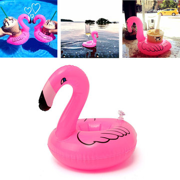 Inflatable Flamingo Drink Can Holder Party Pool Home Decor Kids Toy