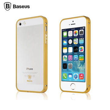 BASEUS 2 in 1 Gold Color Series Special Edition Aluminum Metal Frame Case For Apple iPhone 5 5S