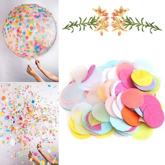 Veelkleurige Paper Round Circle  Rainbow Tissue Birthday Party Wedding Confetti Decoratie