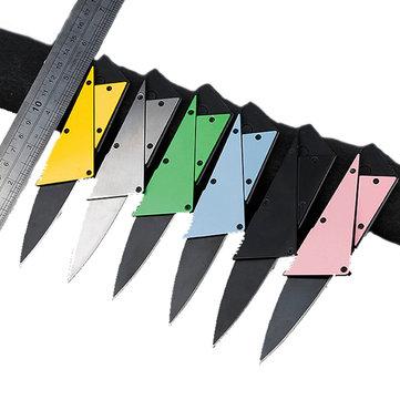 54mmÇokİşlevliMiniCepKatlanır Bıçak Altı Renk Outdoor Ordu Kredi Kartı Bıçağı Balıkçılık Parçalar
