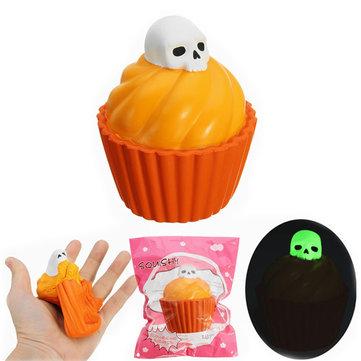 YunXin Squishy Pumpkin Puff Cake Glow In Dark Halloween Lento aumento con Packaging Collection Gift