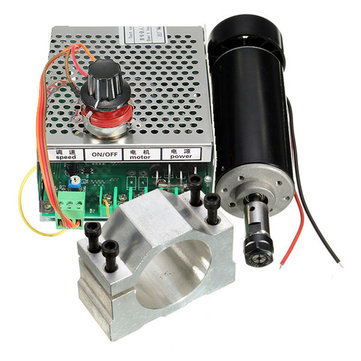Buy Machifit ER11 Chuck CNC 500W Spindle Motor 52mm Clamps Power Supply Speed Governor