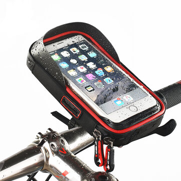 WHEEL UP Rainproof Bike Handlebar Touchscreen Phone Bag Case Cell Phone Holder MTB Frame Pouch Bag