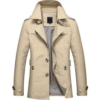 Mens casual casaco de gola casaco de ganga casaco de algodão slim ajuste