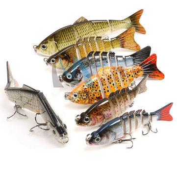 Maxcatch Carp Рыбалка Приманки 10 см 13 г 6 сегментов Crankbaits Hard Lure