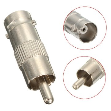 Buy BNC Female to RCA Male Plug Coax Adapter Connector Coupler Jack Surveillance for $1.39 in Banggood store