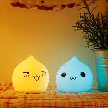 رائعتين قطرة الماء الملونة سيليكون الصمام الجدول مصباح ليلة الخفيفة لغرفة النوم الديكور