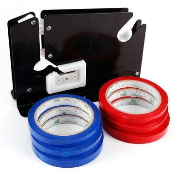 Çanta Boyun Yapıştırıcı Kesme Bıçağı Keçe Ring Dispenseri 6 Adet Rulo Bant