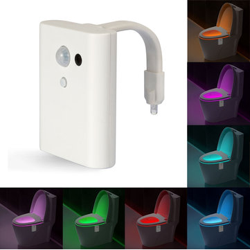 8 Colors Intelligent Closestool Induction Sense LED Night Light Motion Activated Toilet Night Lamp