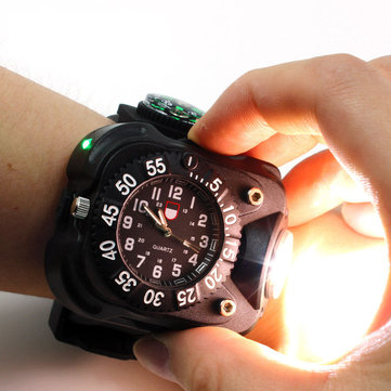 XPE Q5 LED IPX6 Waterdichte Multifunctionele Wrist Watch Zaklamp Fiets Torch Light USB opladen