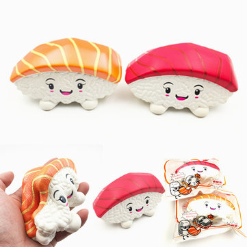 Squishy Fun Tuna Salmon Sushi Squishy Jumbo 14cm Slow Rising Original Packaging Collection Gift Decor