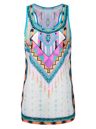 Women Bohemian Ethnic Graphic Printed Sexy Tank Top