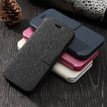 For iPhone 7 Leather Magnetic Flip Wallet Kickstand Case With Card Slot